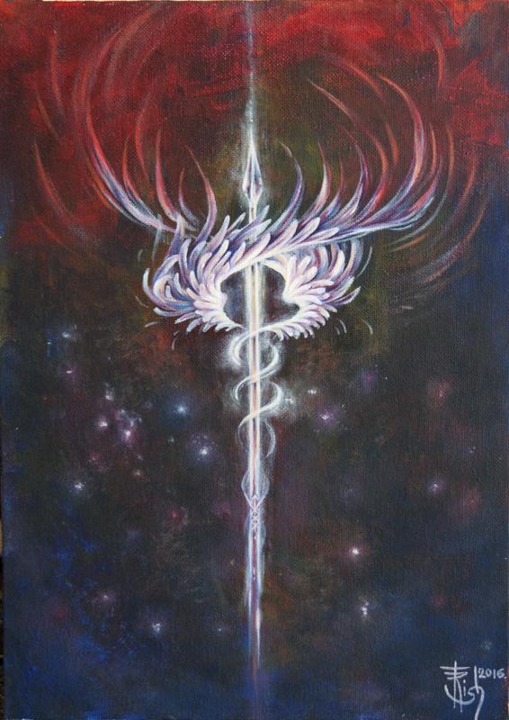 Руническая живопись Картины Trish: Валькирия. Неуловимая